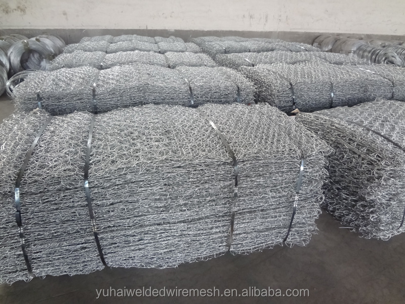Anping factory twist chicken wire mesh/double twisted hexagonal gabion mesh(ISO factory & exporter)