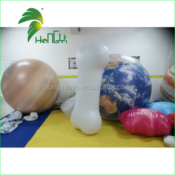 Funny Cheap Advertising Decor PVC Inflatable Dog Bone Balloon Model