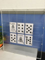 Transparent Playing Card Frame Lucite Perspex Poker Display Frame Acrylic Playing Card Display Wholesale
