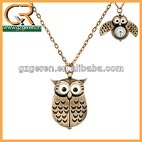 Vintage Jewelry New Design Unique Antique Style Gold Color Alloy Bird Wing Workable Pocket Watch For kids 275o