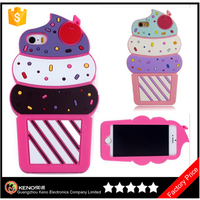 Keno 3D cute cake ice cream lovely ices soft silicone rubber gel back cover case for Samsung Galaxy J1 J100