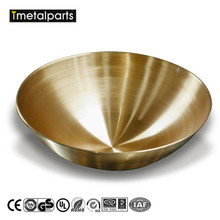 Custom Fabrication Services 24 Inch Deep drawing Brass Bowl Metal Spinning Parts