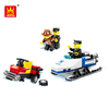 Wholesale Building Blocks Police Play Set