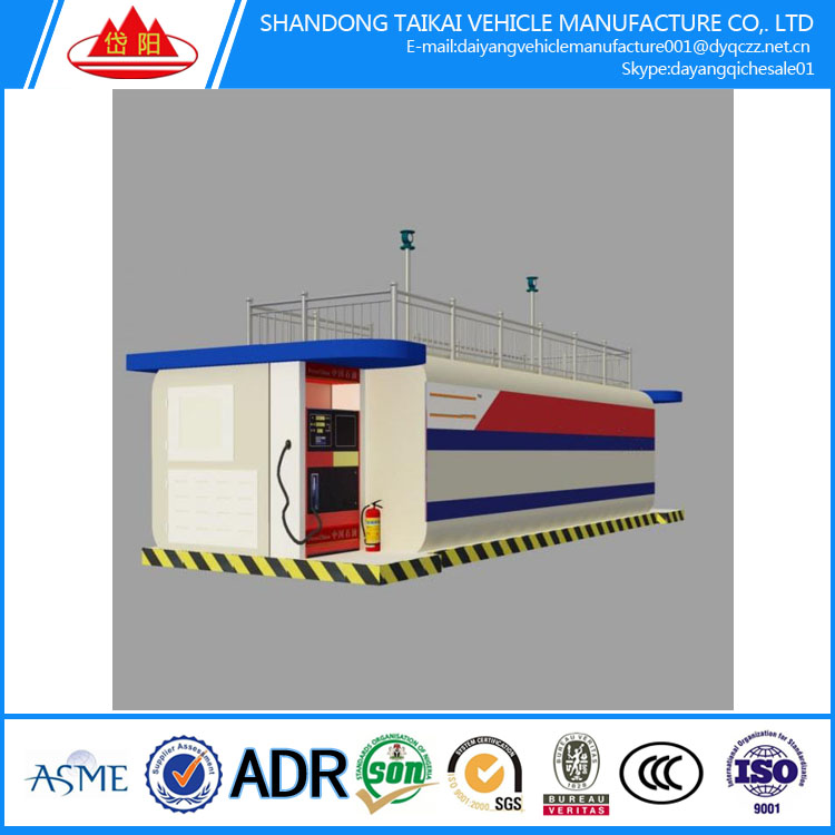 ISO certifcate diesel filling container Mobile Diesel 2 tanks mobile fuel filling station