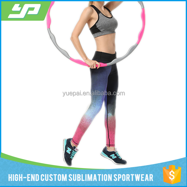 Sublimation Printed Fitness Gym Women Yoga Wear With Full Length Sports Pants And Bra Top