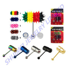 Vibrating Tongue Ring Barbell Surgical Steel Body Piercing Jewelry