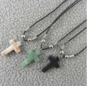 2016 Classical Adjustable Semi-precious Stone Cross Necklace