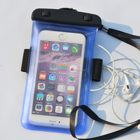 Fashion Design PVC Waterproof Swimming Phone Bag With Earphone Hole & Armband