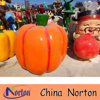 Garden decoration vegetable fiberglass giant pumpkin NTRS-CS788A