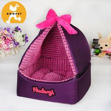 Functional purple triangle tent for pet dog beds bags