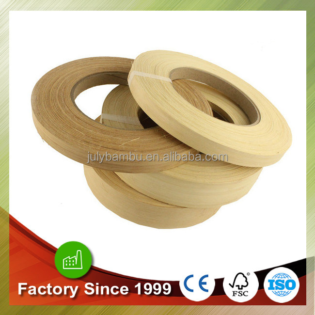 Excellent quality and competitive price bamboo edge banding veneer