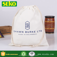 BSCI factory price organic cotton bag,cotton draw string bag