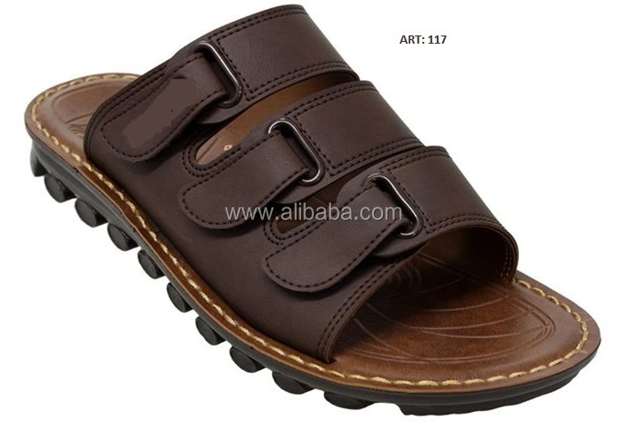 GENTS CHAPPALS/SLIPPERS ARTIFICIAL LEATHER UPPER WITH PU / PVC SOLE.