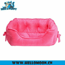 Super Cute Small Size Plush Pet Bed With Bowknot