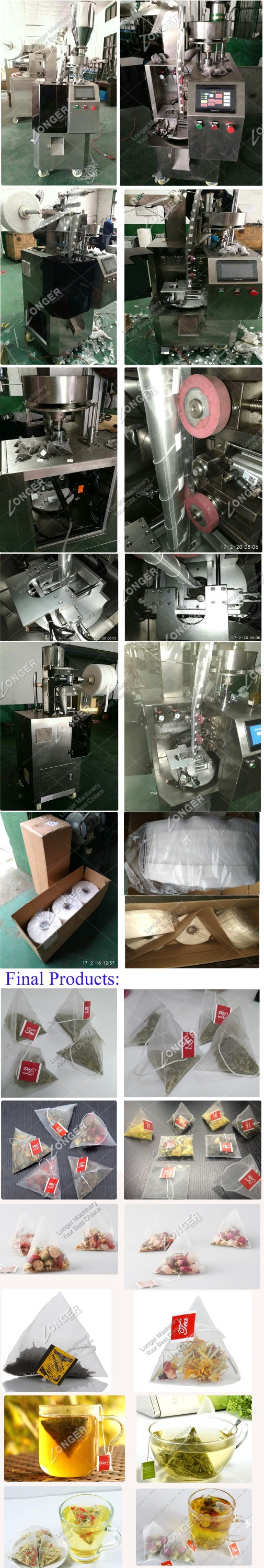 Automatic Lipton Nylon Pyramide Tea bag Packing Machine Tea Packaging Machine Price