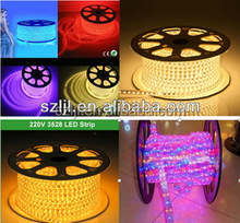 Flexible led strip light SMD3528 waterproof led lighting 220v 230V led strips