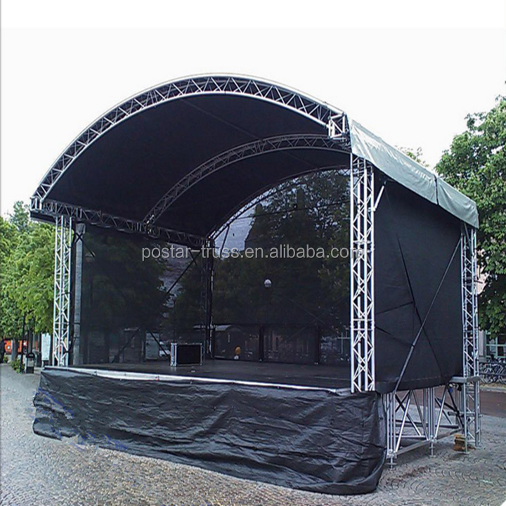 Quick set up arched roof stage outdoor concert truss top canopy
