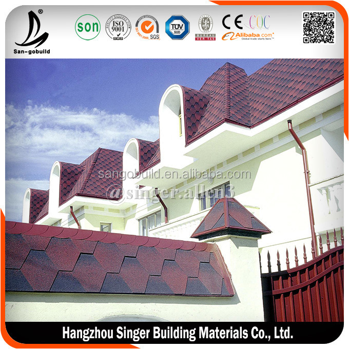 Chile / Somalia / Ghana 2017 New Design Hot sale Cheap Price 5 tab asphalt shingle