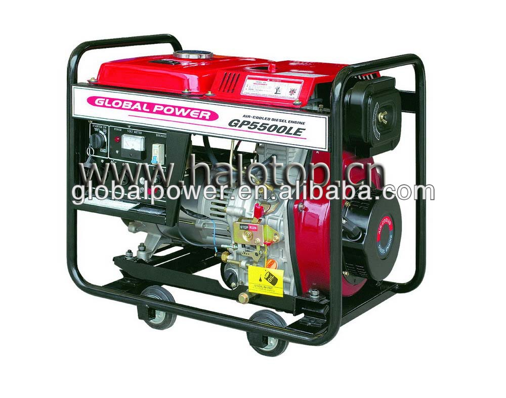Mini soundproof air cooled diesel generator