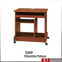 Cheap small wooden computer table size with wheels