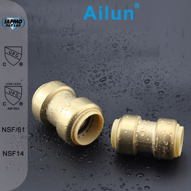 brass quick pipe fittngs coupling water swivel joint in plumbing material