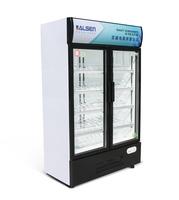 2 door Vertical display freezer cooling fridge for beverage and wine