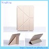 Smart silk texture flip stand transformers cover for ipad mini 4 case