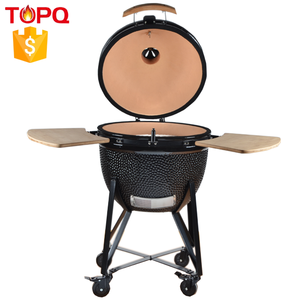 "TOPQ wood pellet burning cook stove kamado 23"" thermos grill"