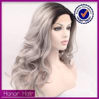 New style 1b sliver ombre color wholesale cheap 100% human hair full lace wig