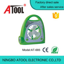Atool 16 bright LED cheap rechargeable fan with light