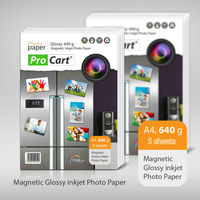 High glossy magnetic A4 640g inkjet photo paper