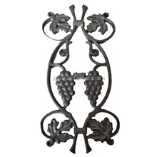 Ornaments cast iron picket casting,grapes design,single faced