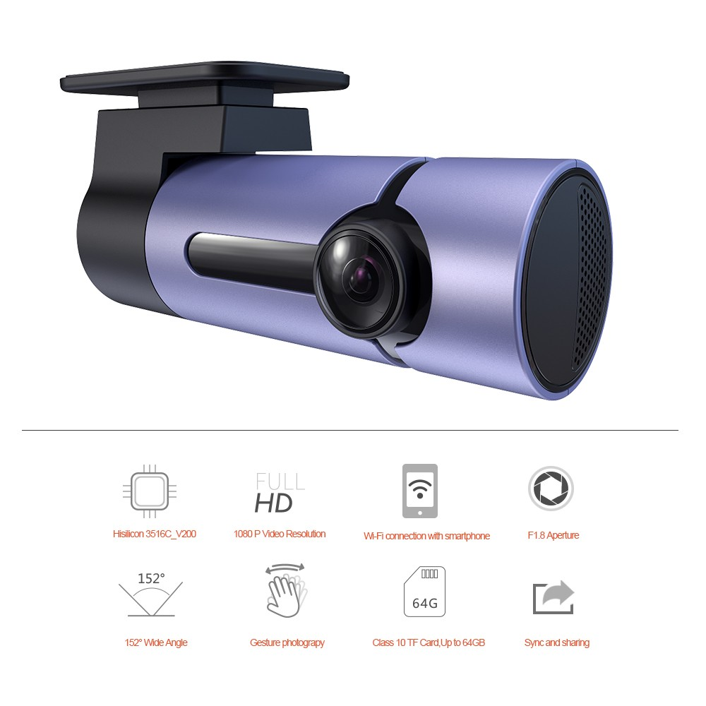 MC6 Factory wholesale Brand OEM Fashion Original Design car DVR Recorder with Wireless WIFI G-Sensor 1080P Camera