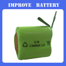 nimh battery rechargeable battery pack 3.6v 2/3aa 650mah