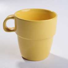 solid color stackable 8oz ceramic coffee mug NFA0295