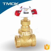 Brass Gate Valve with Lock / Brass stop valve Of Polished Chrome Plated