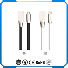 2017 Stand up usb charge cable cell phone flexible high quality pu usb data cable