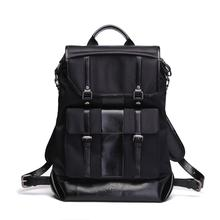 2016 new inventions for laptop backpack nylon pu leather laptop computer bag