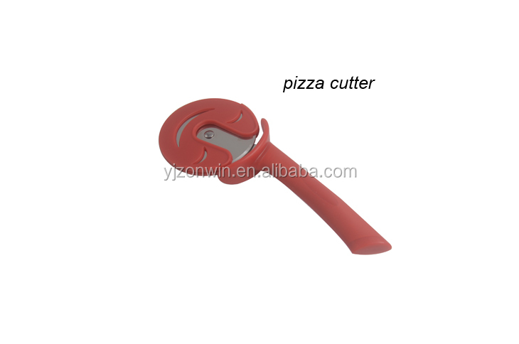 Item G4-016 hot selling round wheel TPR handle durable stainless steel pizza cutter