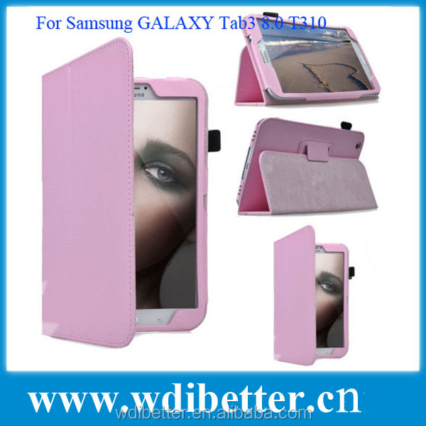 Tablet Accessory Leather Case For Samsung Galaxy Tab3 8.0 T310 T311