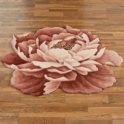 Top quality shaped wool flower rugs