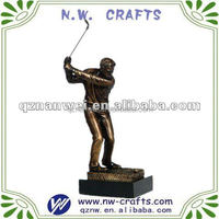 Champion Resin golf action figure antique gold