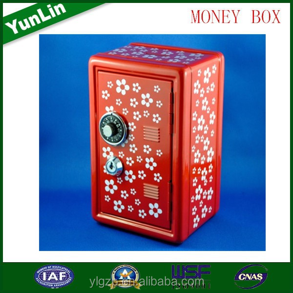 quality and quantity assured wooden cash box