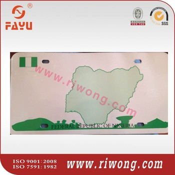 Nigeria car license plate