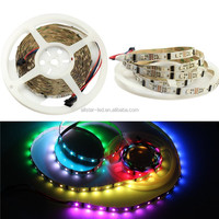 5M/16.4FT Digital Individual Addressable LED Strip LPD8806 24IC-48LEDs/m RGB Dream Color Pixel Non-Waterproof DC5V PCB White