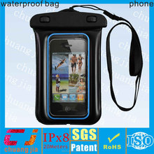 2015 hot selling clear plastic phone case waterproof bag for iphone 5