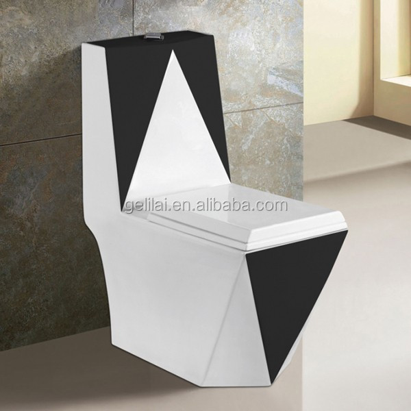 Fancy design porcelian bathroom water closet high quality european style p/s-trap toilet