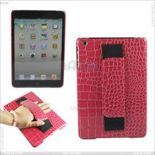 Handholder Crocodile Skin Pattern Leather Case for iPad Mini P-iPDMINICASE042