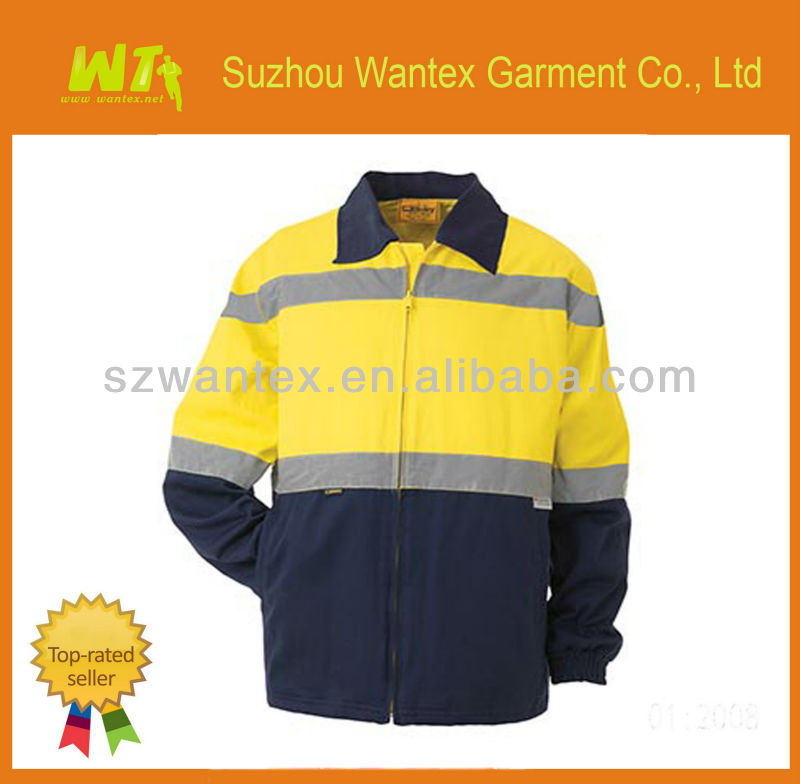 AS/NZS Men's Reflective Spliced cotton Drill safety cotton Jacket