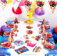 Baby Shower Party Decorations Spiderman Theme Baby Boy Party Tableware